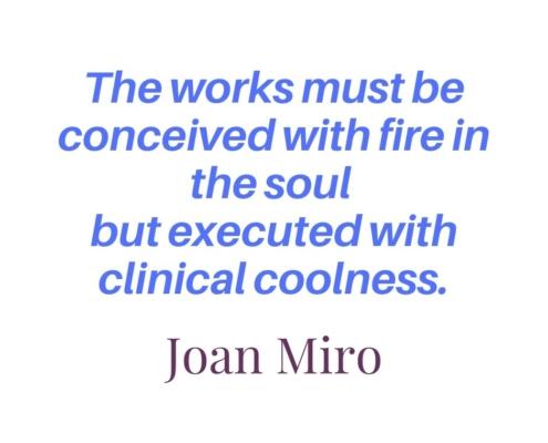 Joan Miro, professional development, artist